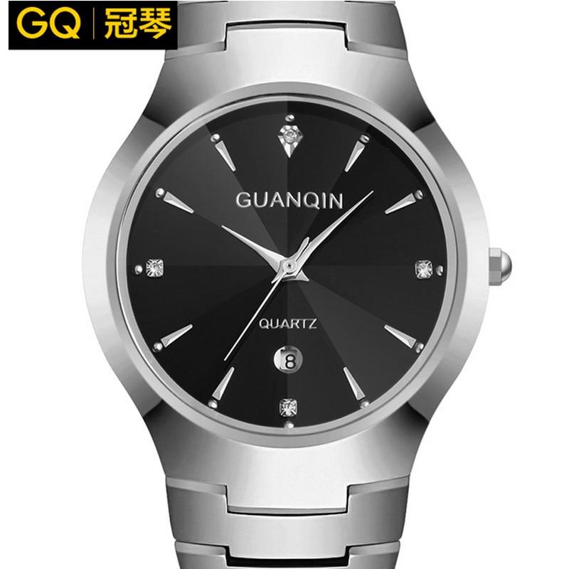GUANQIN fashion watch women luxury brand of women tungsten steel waterproof men quartz watch reloj mujer