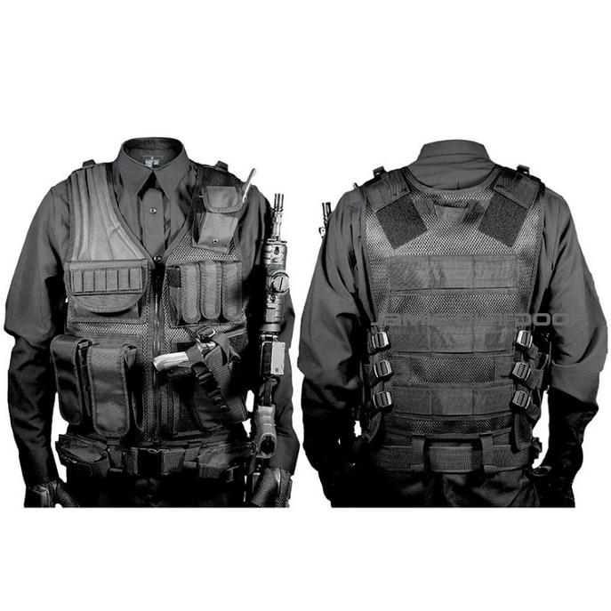 Armée Police militaire tactique gilet Wargame armure corporelle tenue de sport Molle assaut Airsoft Paintball transporteur frappe gilet