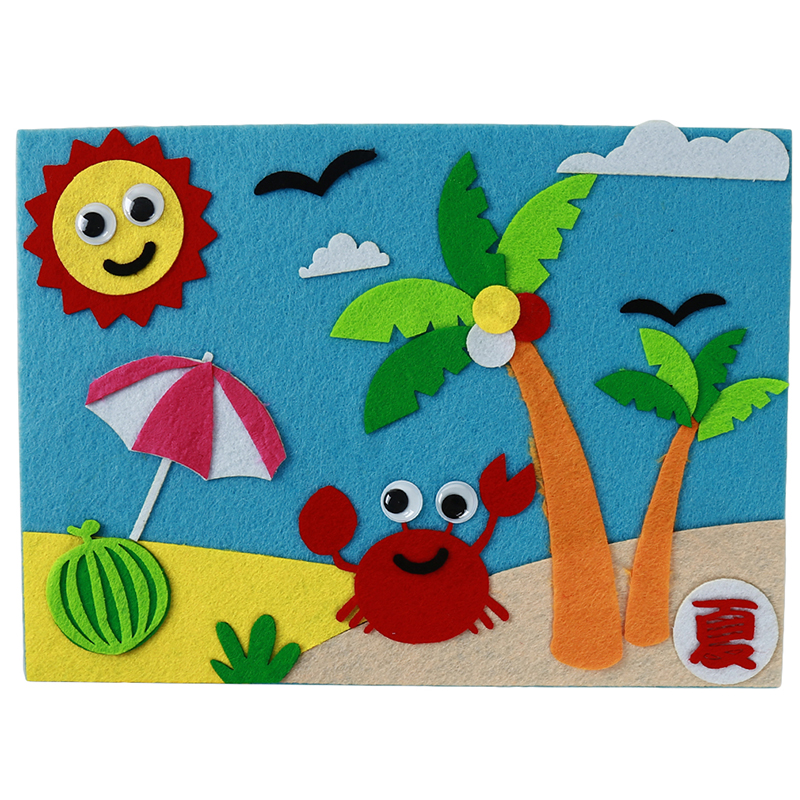 Non-Woven 3D Stickers DIY Non-Woven Fabrics Hand-Made Materials Children'S Educational Toys Baby Craft Toys