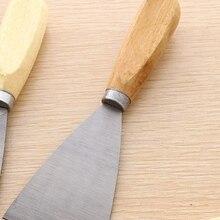 1 шт. 2 дюйма деревянная ручка из нержавеющей стали лопатка для сантехники