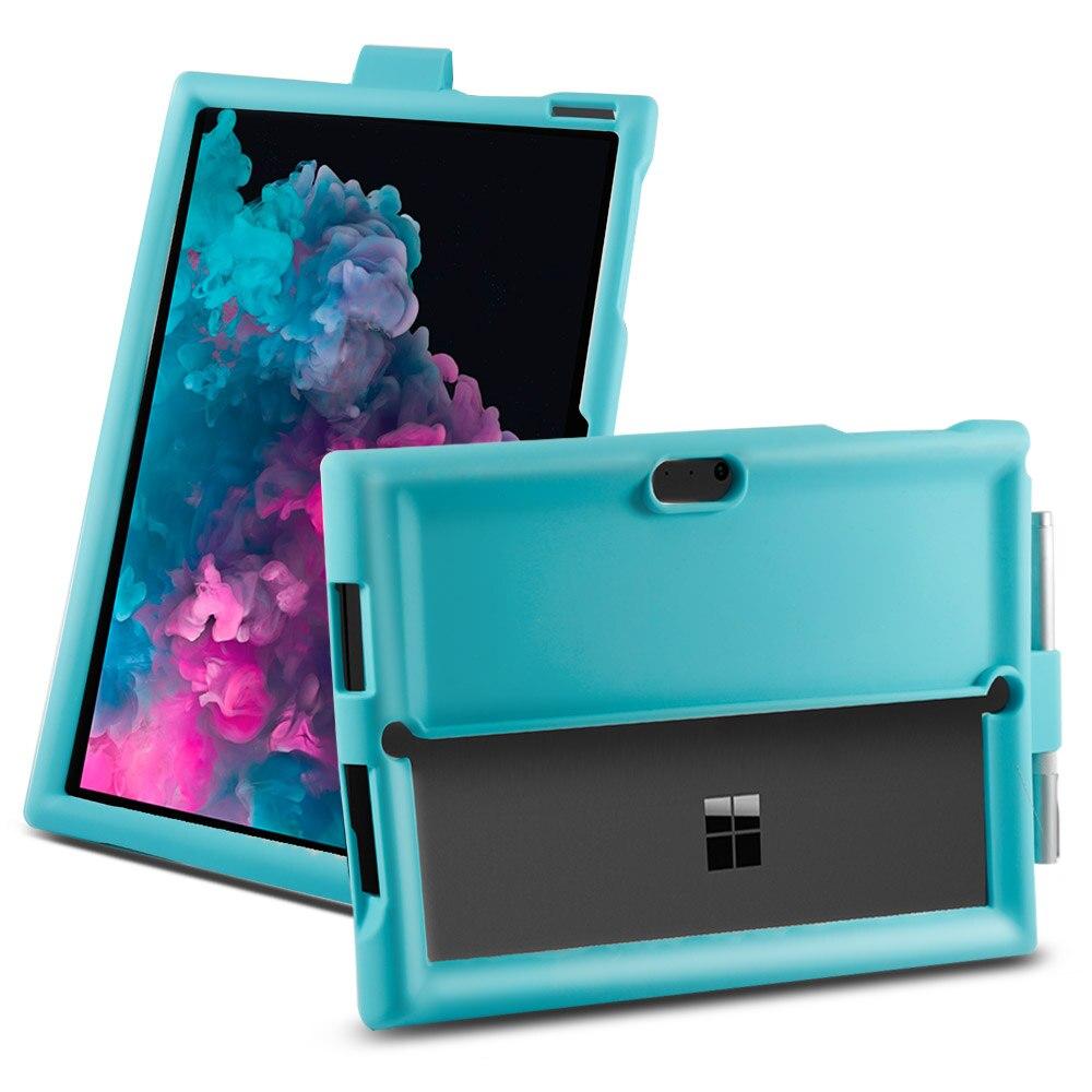 Étui de couleur bonbon pour Microsoft Surface Pro 3 4 5 6 étui tablette Silicone coque plate anti-dérapant antichoc 12.0 pouces
