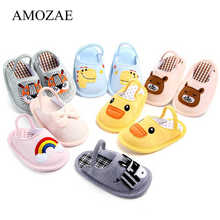Fashion Baby Shoes Summer Cute Animal Pattern Infant Toddler Baby Boys Girls Shoes Soft Sole Indoor Shoes For 0-18M