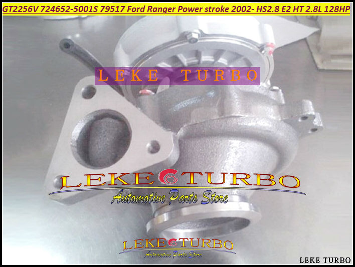 GT2256V 724652 724652-0001 724652-0007 724652-5001S EX 79517 Turbo For FORD Ranger Power stroke HS2.8 HT 2.8L 2002- Turbocharger new gt2052s 721843 721843 0001 721843 5001s 79519 turbo turbine turbocharger for ford ranger 2001 power stroke hs2 8 2 8l 130hp
