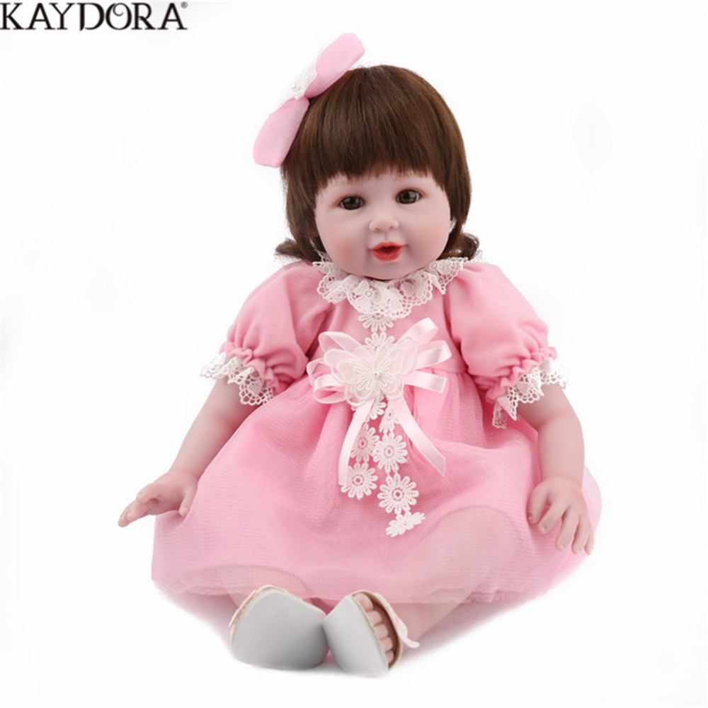 KAYDORA Reborn poupée bébé vinyle corps 22 pouces 55 CM poupée jouets pour fille garçon douce princesse Silicone cadeau d'anniversaire réaliste
