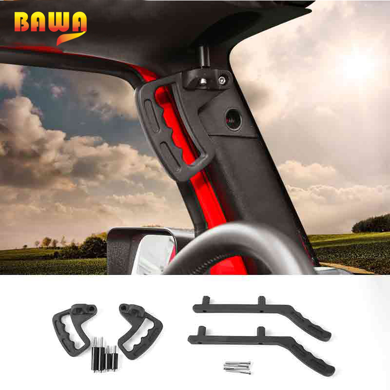 BAWA Armrests Front Grab Handle for Jeep Wrangler JK 2007 2017 Aluminium alloy Car Front Rear