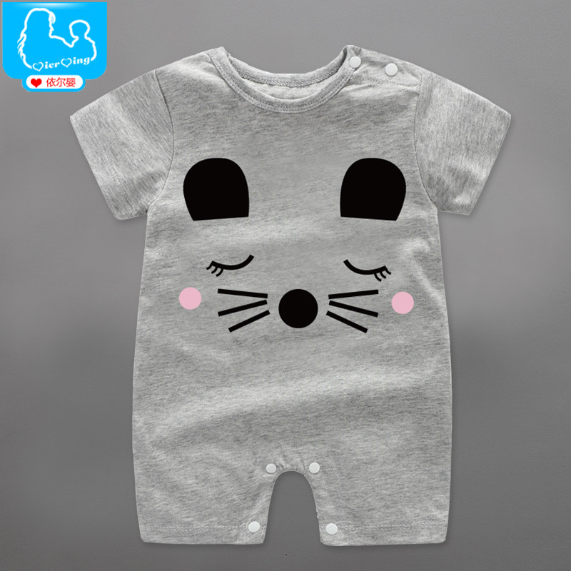 db325fb51 Summer Baby Boy Rompers 100% Cotton Short Sleeve Toddler Boys ...