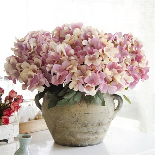 Häufig 6 Fourche/Bouquet Silicone Boule D'hortensia Fleurs Artificielles  PJ67