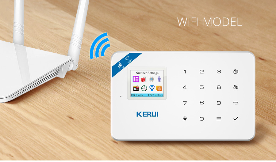 Wireless WiFi GSM Alarm System Android iPhone APP Control home Security Alarm System compatable with Anti pet PIR motion sensor_wifi__01