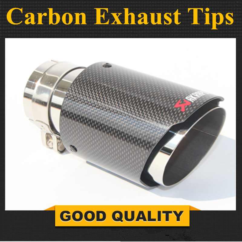 car styling Glossy Akrapovic exhaust car car-styling pipe muffler tip carbon fiber Sfor BMW for Volkswagen for Benz (1PCS) new m performance carbon exhaust tip for bmw series m3 m4 m5 2012 car styling akrapovic car exhaust muffler nozzle tip