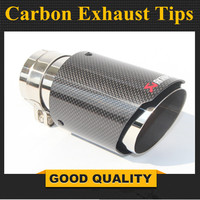 car styling Glossy Akrapovic exhaust car car styling pipe muffler tip carbon fiber Sfor BMW for Volkswagen for Benz (1PCS)