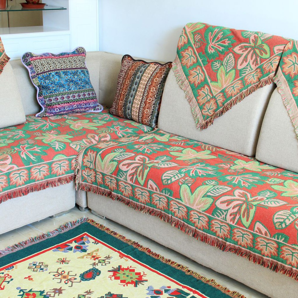 Chausub European Thick Sofa Cotton Blankets Winter Home
