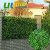 Uland DIY Artificial Plants Decorative Balcony Fence Hedges New PE Plastic High Imitation Outdoor Green Walls