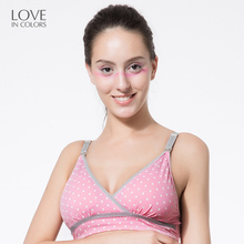 Loveincolors Breastfeeding Bar Cotton Wire Free Nursing Bra Pregnant Women Sports Sleep Full Cup Shape Maternity Underwear