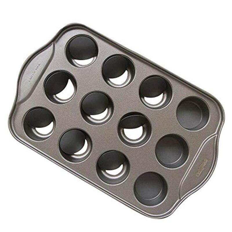 Sartén antiadherente para tarta de queso con 12 tazas, molde removible redondo de Metal para pastel y magdalenas con forma de horno para hornear, herramienta para postres FILBAEK 18, incluso Madeleine Shell, molde para galletas, magdalenas, 100% de silicona de platino, utensilios para hornear galletas, pasteles