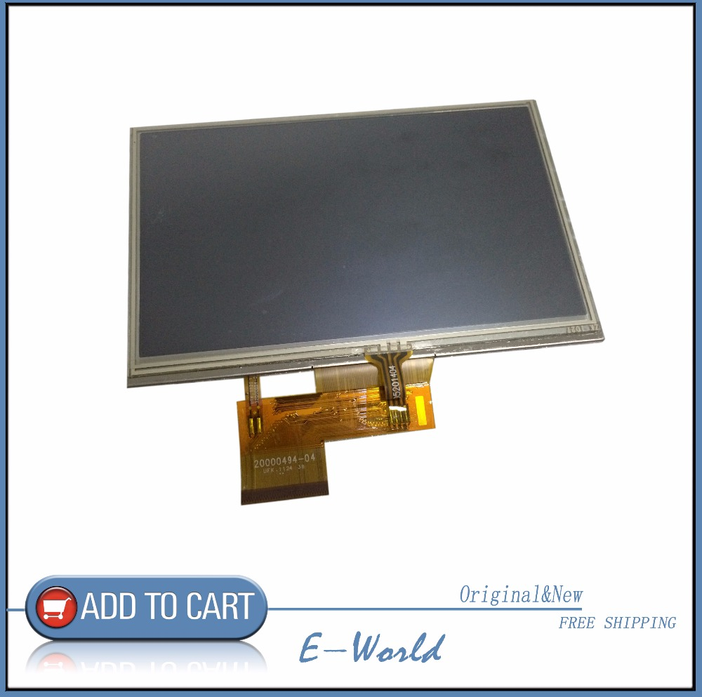 Original 4.3 inch LCD screen AT043TN24 V4 V.4 20000494-04 LCD display+touch screen digitizer for GPS free shipping