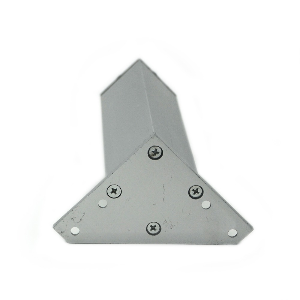 4pcs 10cm Furniture Legs Cabinet Feet Aluminum Metal Table Adjustable Triangle Base with Screws