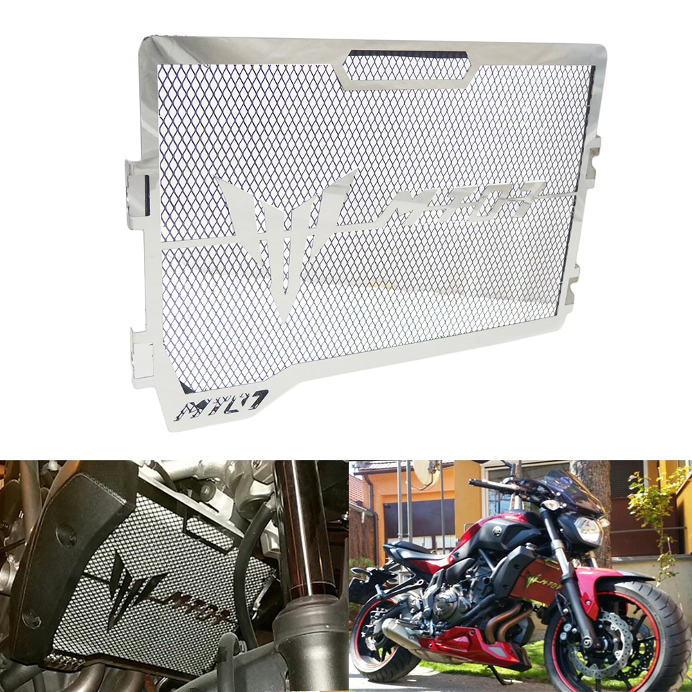 KEMiMOTO For Yamaha MT07 MT-07 MT 07 2014 2015 2016 2017 Motorcycle Accessories Radiator Grille Guard Cover Protector 2017 new black motorcycle radiator grille guard cover protector for yamaha mt07 mt 07 mt 07 2014 2015 2016 free shipping