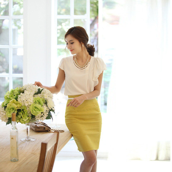 Pencil Skirt Women 2019 Elastic High Waist Slim Hips Red Black Formal Saias Feminino Lady OL Office Bodycon Skirts Plus Size 6