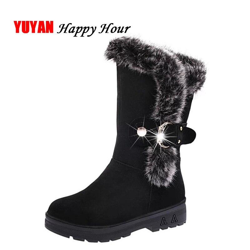 Vino Nero Donne Scarpe Per Caldo Alta Freddo Inverno Neve Rosso Il colore Di  Donna Fashion ... 970f2ce6fd0