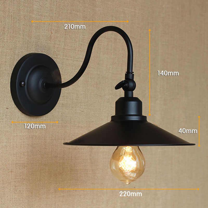 Лофт черный Эдисон Арт Деко металлический настенный светильник для мастерской ванная комната спальня балкон фойе косметическое Освещение E27