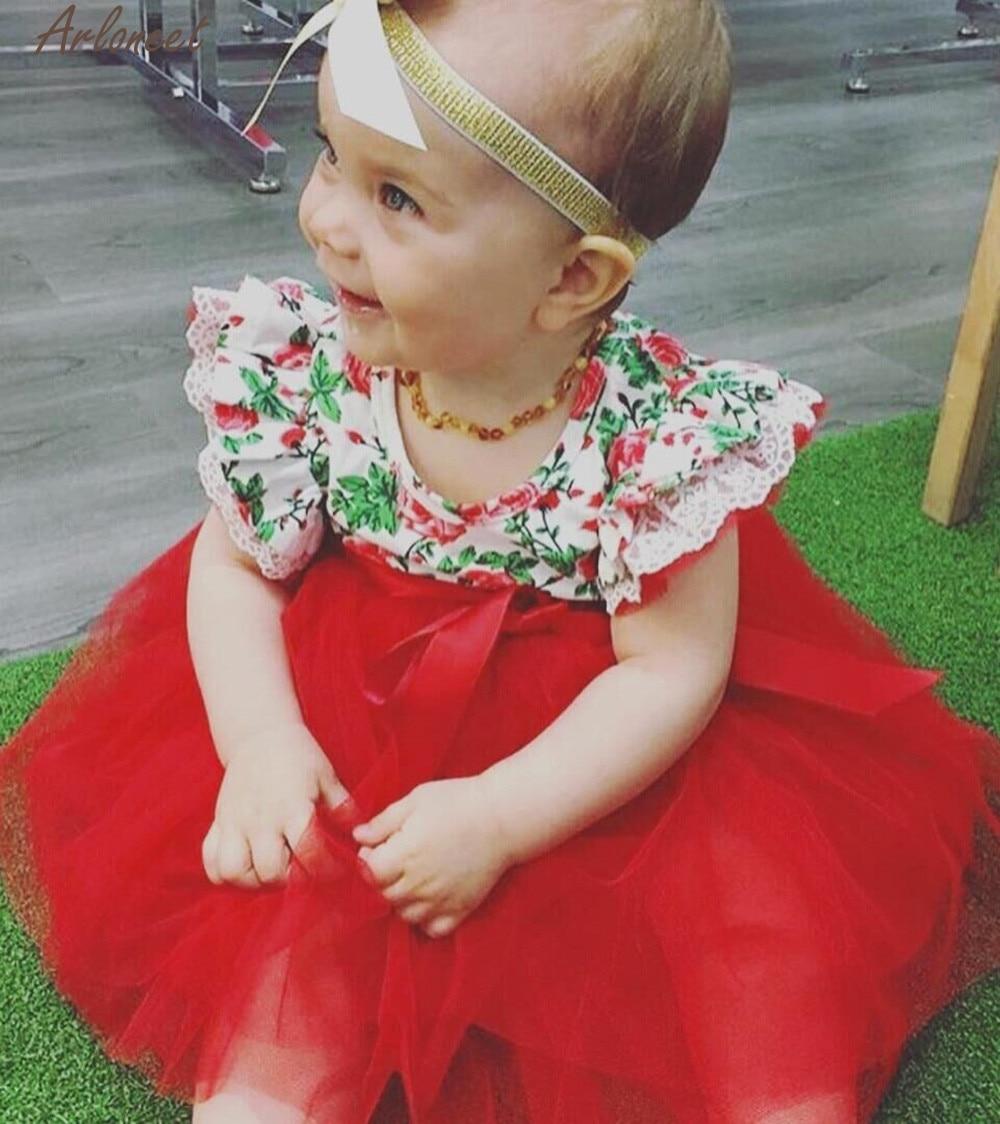ARLONEET Baby Girls Infant Toddle Floral Lace Tutu Sleeveless Clothes Princess Sleeve Cute Suit Newborn Jan31 D25