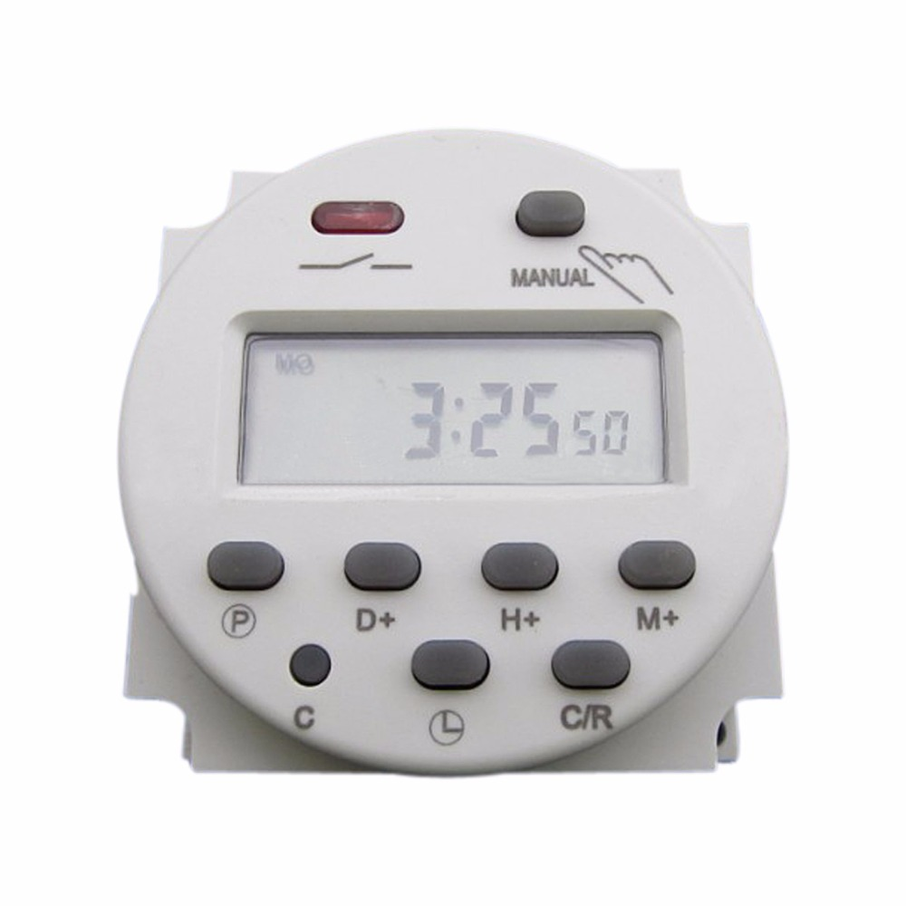 цена на DC12V/DC24V/AC110V/AC220V CN101A Mini Digital LCD Power Weekly Programmable Electronic Timer Relay Switch