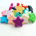 Free shipping newest Flower shape 20pcs/lot Silicone Teething Pendant Necklaces  silicone sunflower stars teether pendant