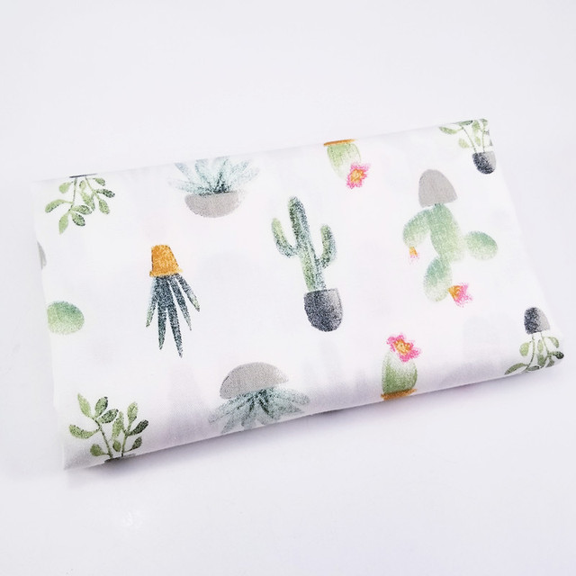 Twill Plant Cactus Series Cotton Fabric DIY handwork Patchwork Sewing Kids Bedding Bags Cloth Textiles Fabric 50*40cm