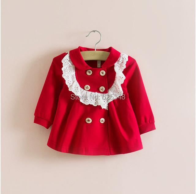 New 2017 marca outono inverno baby girl clothing crianças jacket & casacos meninas roupas bebê recém-nascido do bebê outerwear 4 cores