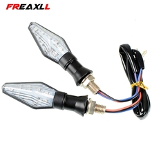 Universal Motorcycle Accessories Tail Signal  LED Turn Indicator Light For KAWASAKI Ninja ZX6R ZX636 2005-2006 C D