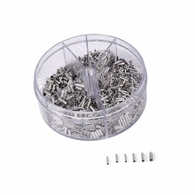 1900pcs Ferrule Kit Wire Crimp Connector Non Insulated Electrical Cord Metal End Terminals 5 types Bare Copper