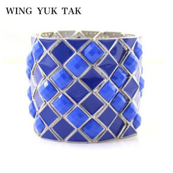 Top Quality Star Jewelry 6 Colors Fashion 3D Stereoscopic Geometric Resin Charm Bracelets Bangles For Women Factory Wholesale