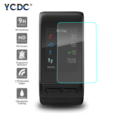 YCDC Protector de pantalla de vidrio templado Premium 9H 2.5D para Garmin Vivoactive HR, película protectora transparente a prueba de explosiones, 1 ud.