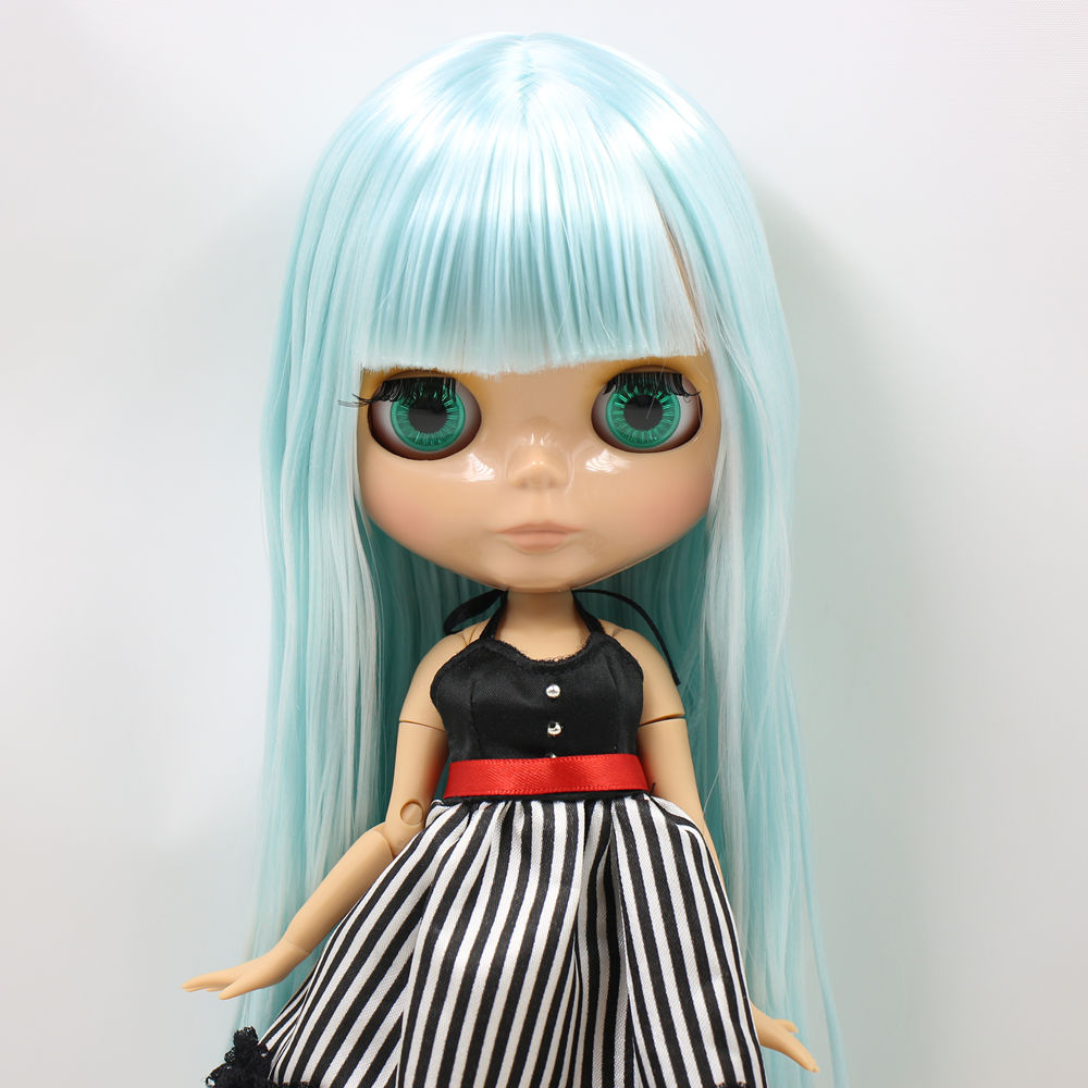 ICY Nude Blyth Doll Serires No BL6909 Lake Blue Straight hair JOINT body burning skin with
