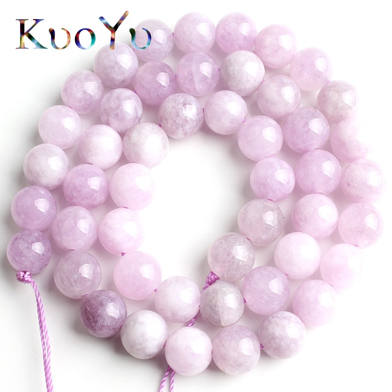 Natural Purple Angelite Stone Beads Round Loose Spacer Beads 15''Strand 4/6/8/10mm For Jewelry Making DIY Bracelets Necklace