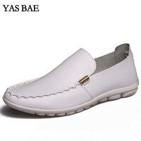 남성 Yas Bae 브랜드 럭셔리 유럽 캐주얼 신발 화이트 블랙 플랫 운전 로퍼