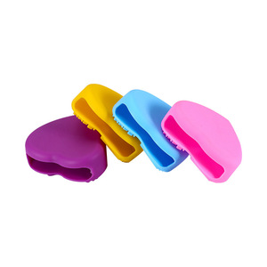Image 3 - 1PC Silicone Fashion Heart Shape Egg Cleaning Glove Makeup Washing Brush Scrubber Tool Cleaners Cleaning Brush OK 0806