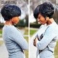 Черные Вьющиеся Парики Для Женщин Дешевые Синтетические Парики Для Чернокожих Женщин Афро-Американской Короткие Парики Черный Парик Черные Женщины Прически