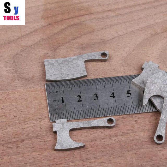 Diy Knife material Making knife Handle keychain Pendant kitchen knife and axe modle Damascus pattern steel (made in china)