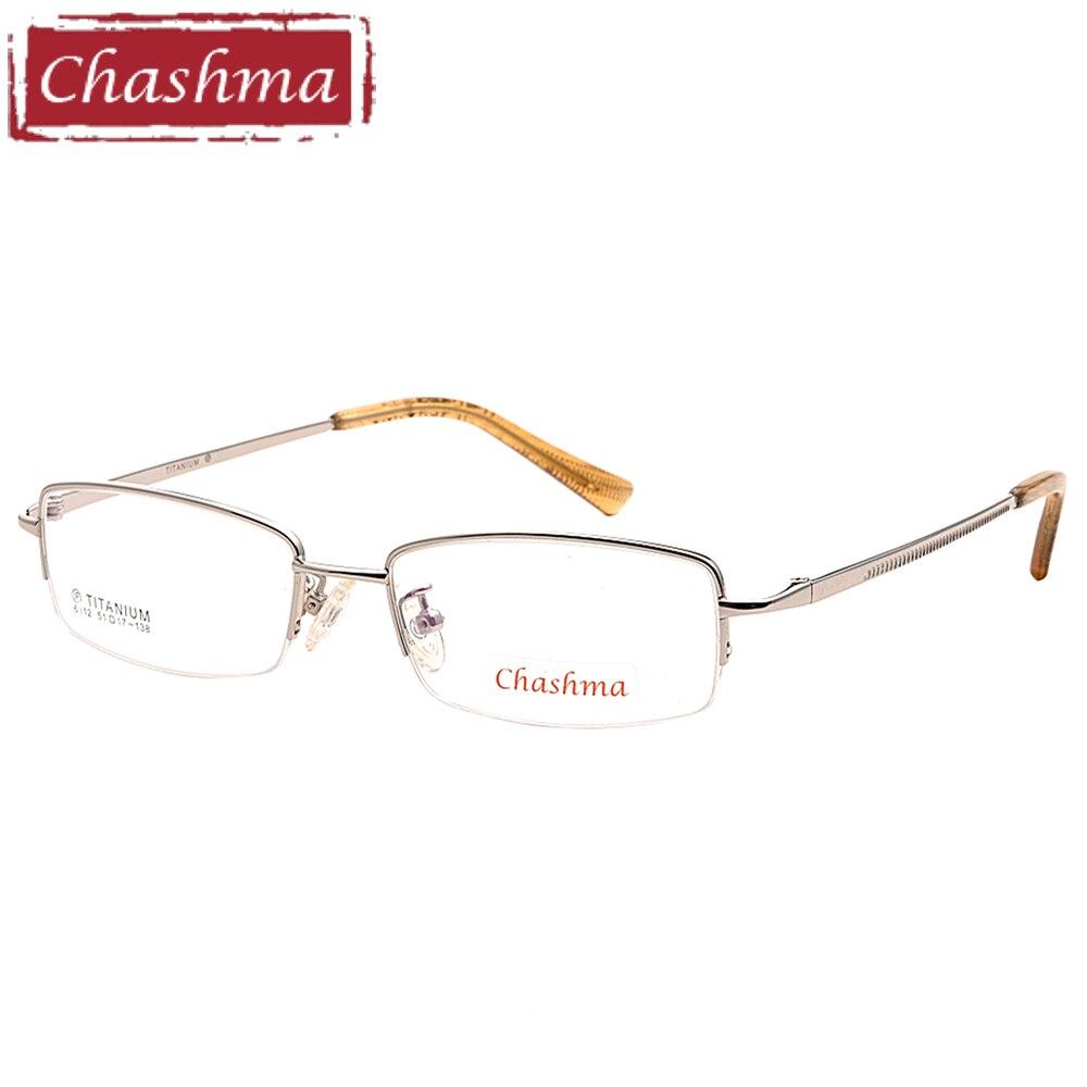 Chashma Brand Pure Titanium Frame Nickel Free Men's Eyeglasses Quality Half Frame for Men Small Face men glasses frame optic