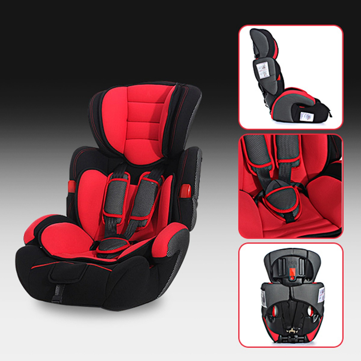 Red Baby Car Seat Convertible Baby Children Car Seat & Booster Seat
