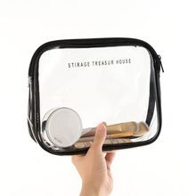 Clear Transparent PVC Travel Makeup Bag Cosmetic Toiletry Zip Wash Bags Pouch