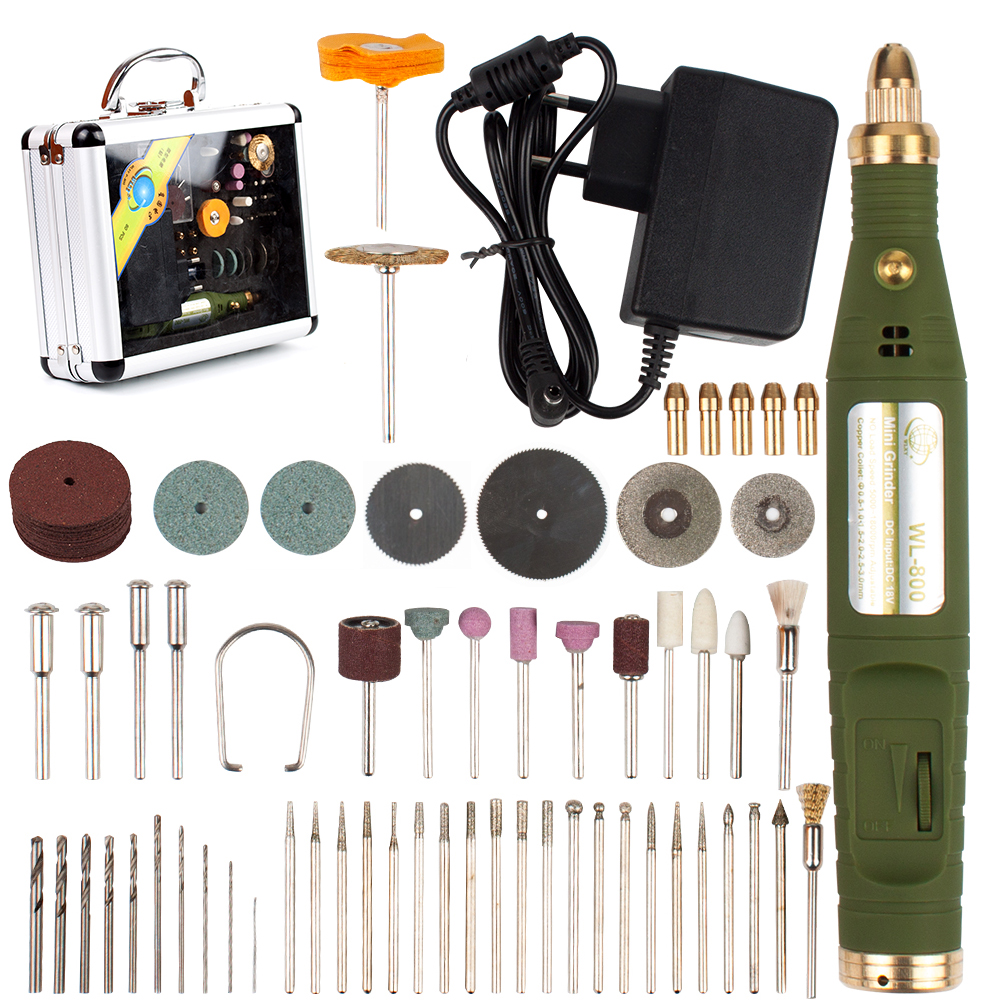 18000RPM 18V Mini Electric Rotary Drill Grinder With 80pcs Dril Bits Accessories Polish Sanding Tool Set Kit For Dremel Tool-in Electric Drills from Tools on