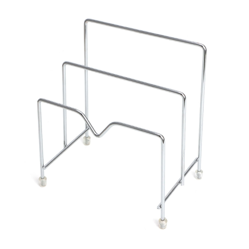 Stainless Steel Pot Lid Rack Pan Cutting Board Holder Organizer For Kitchen