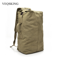 Multi Purpose Tactical Backpack Bucket Canvas Military Hiking Backpack For Women Men Outdoor Sport Travel Luggage