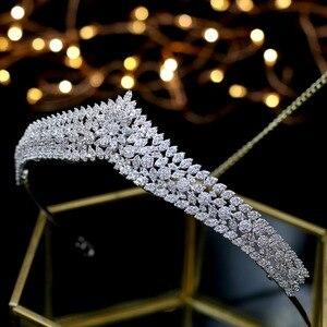 Image 3 - Asnora מדהים גבישי נסיכת נזר nupcial כלה מצנפות כלה שיער אביזרי coroa דה noiva