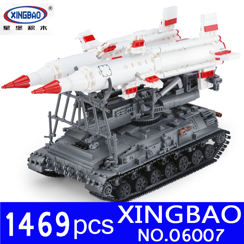 Xingbao 06007 1469Pcs Military Series The SA-4 Ganef Set Building Blocks Bricks Set Educational Children Toys Model Gifts 8 in 1 military ship building blocks toys for boys