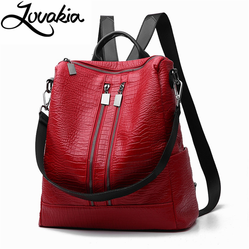 LOVAKIA fashion women backpack high quality youth leather backpacks for teenage girls female school shoulder bag bagpack mochila 2017 high quality genuine leather women backpack fashion backpacks for teenage girls black casual travel school bag major brands
