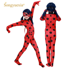 hot deal buy ladybug cos, european and american film and television anime, ladybug girl, tights, 61 halloween costumes, bags