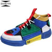 DAOKFPO новый мужской Вулканизированная обувь Superstar дышащие подошва Любители тапки нескользящей Мужская обувь Большие размеры 35–44 NVF-20